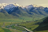 Scenery, mountains, Dalton Highway, Alaska pipeline, Alaska