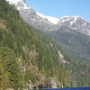 Mt One Eye, named for a Sechelt god is prominent on the west side of Princess Louisa Inlet.