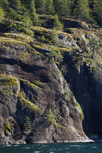 Rocky bluffs on the south side of the Marlborough Heights.