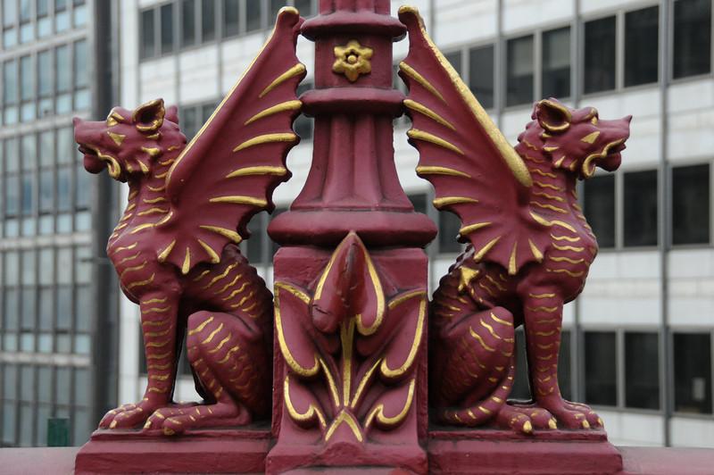 Holborn Viaduct lamp post dragons