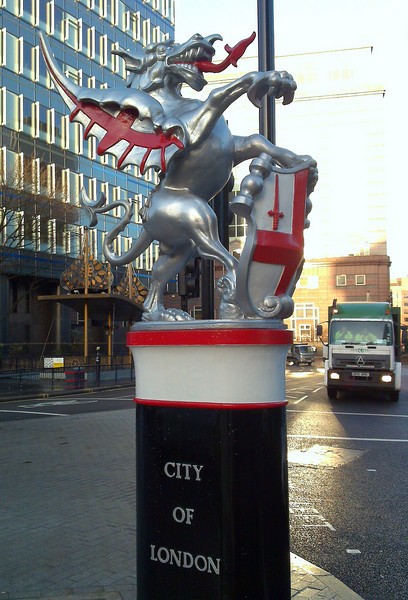 The City of London boundary dragon at Aldgate