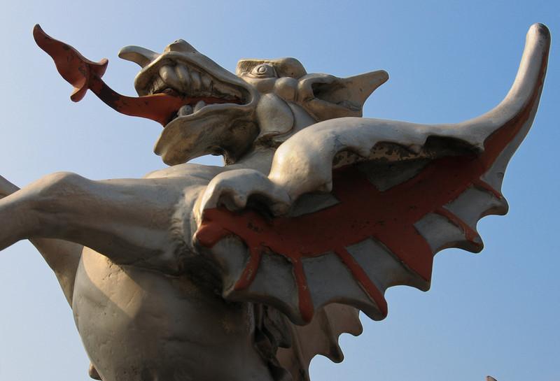 Boundary dragon on Blackfriars Bridge