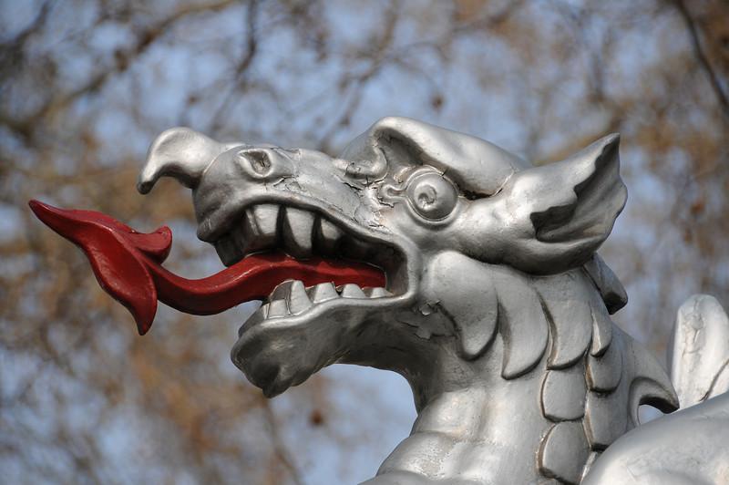 Boundary dragon on Victoria Embankment