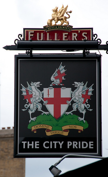 City of London coat of arms on a pub sign