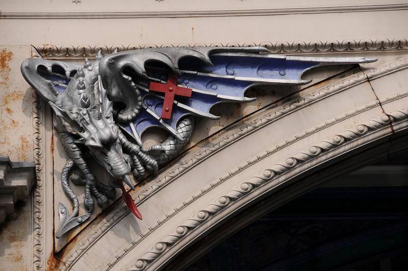 Smithfield Market entrance dragon