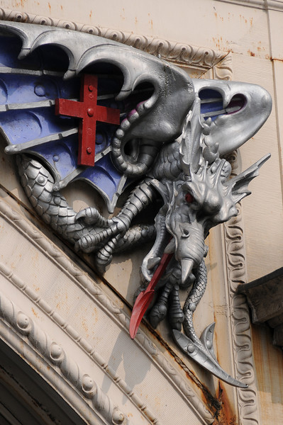 Smithfield Market entrance dragon