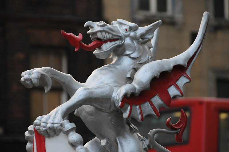 The City of London boundary dragon at Bishopsgate
