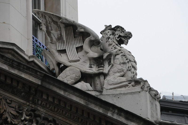 City of London dragon over Smithfield Market