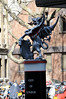 The City of London boundary dragon at Aldersgate