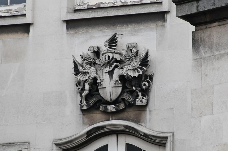 City of London coat of arms near Smithfield