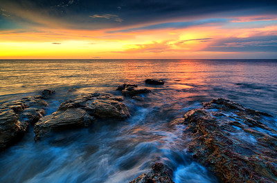 Sunset at Nightcliff in Darwin.