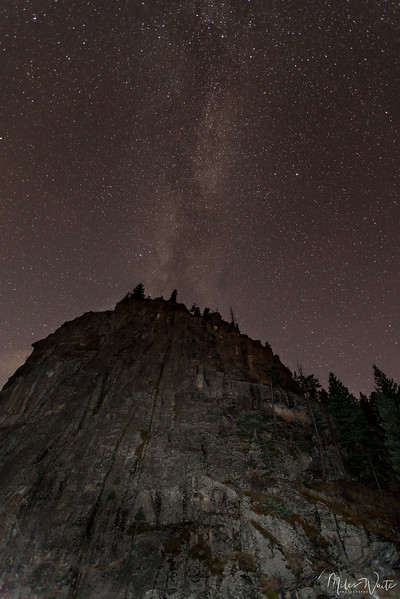 Castle Rock at night. This is on the way up to Nederland from Boulder Colorado. Just off Boulder Canyon Dr.