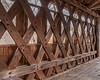 This bridge uses a town lattice truss structure