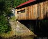 The bridge abutment on the western end of the bridge