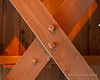 The trusses are fastened together with wooden pegs
