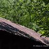 The bridge has metal roofing