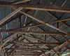 The roof structure of the bridge