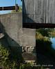 Bridge abutment on the eastern side