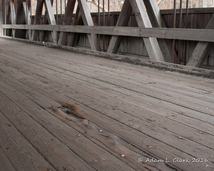 Decking within the bridge