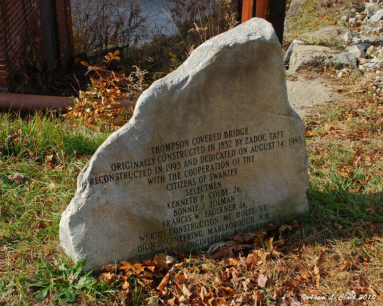 Commemorative rock at the East end