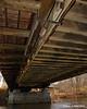 The underneath of the bridge