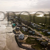 Folly Beach, South Carolina (Hurricane Jose off-shore)