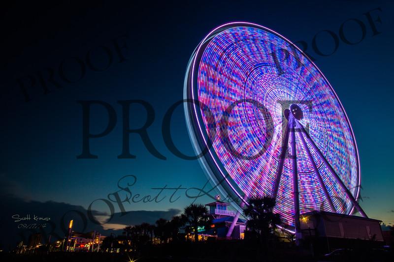 Myrtle Beach, South Carolina.  Big Wheel - Ferris Wheel - Scott Krause
