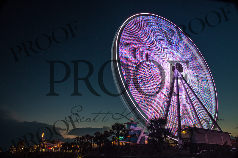 Myrtle Beach, South Carolina.  Big Wheel - Ferris Wheel - Scott Krause