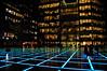 Broadgate Square at night