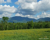 The upper end of Franconia Notch from the side of the road in Sugarhill, NH