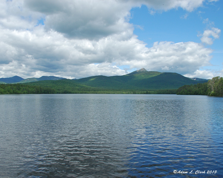 Mt. Whiteface, Mt. Passaconaway, and Mt Chocorua behind Chocorua Lake