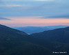 Sunrise along the auto road<br /> Looking between Mt. Jefferson & Mt. Adams