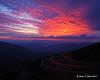 Sunrise along the auto road