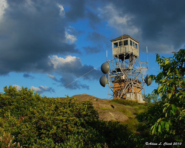 Fire watch tower at the summit