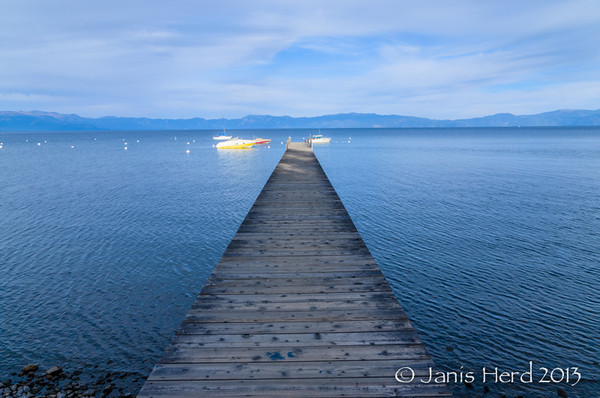 Dock and boats, Lake Tahoe, Nevada