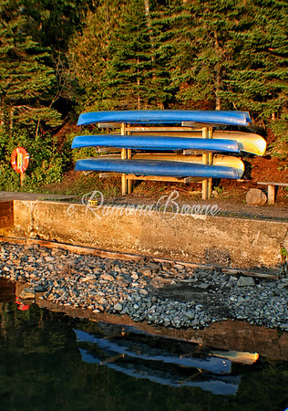 4. Canoes at Sunset