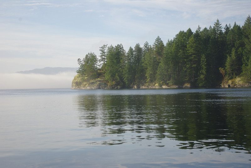 Early morning fog in the Agamemnon Channel