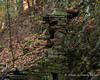 Hidden Glen - 10/30/16<br /> Most of the old dam has fallen down, but some still remains.  The rock sticking out from the rest of the remains is probably about 3 feet long and doesn't appear to be held in by much