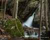 Porcupine Falls cascading down between to ridges in the rocks