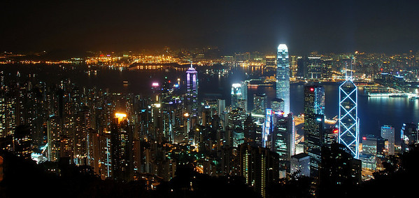 The Victoria Harbour at Night (Hong Kong)