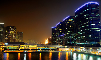 Tsim Sha Tsui at night