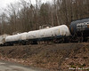 Some tanker cars in the big freight train coming through