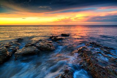 Sunset at Nightcliff in Darwin.