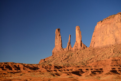 The Three Sisters.  Monument Valley