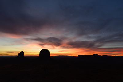 Sunrise.  Monument Valley