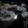 """ full moon Setting"" Grand Tetons N.P."