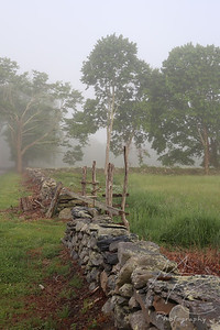 Stone Wall and Wooden Gate