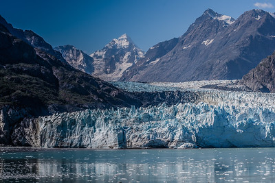 Margerie Glacier on a beautiful sunny day in Alaska