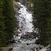 upper falls in the Tetons