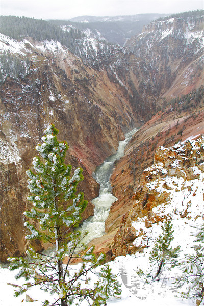 the power of Yellowstone River